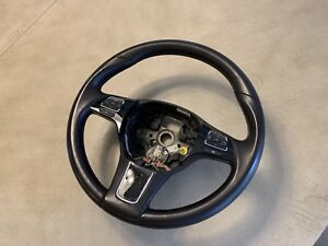 Vw Touareg Oem Brown Leather Steering Wheel Executive Lux Sport 7p6419091 X0u