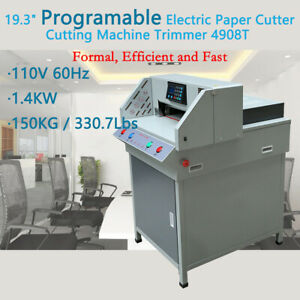 19 3 Programmable Electric Paper Cutter Cutting Machine Trimmer 4908t Office