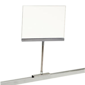 Retail Rack Acrylic Frame Magnetic Base Sign Holder 5 5 X 7 Card Display