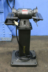 6 Wheel 0 5hp Baldor 532 Diamond Wheel Tool Grinder Carbide Grinder Pedestal