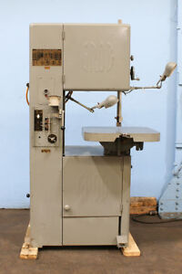 18 Thrt 12 H Grob Ns18 Vertical Band Saw 1 Hp 1 Blade Blade Welder