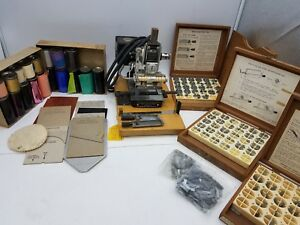 Kingsley M 60 Hobo Hot Foil Emboss Stamp Machine W Type Sets Park Ave Accessory