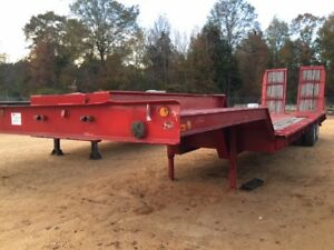 Custombuilt 35ton Stiff Neck Lowboy Trailer Hyd Ramps Good Condition Call