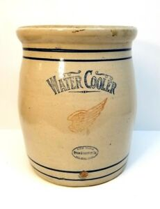Antique Vintage Red Wing Stoneware 6 Gallon Water Cooler Crock Free Shipping