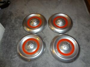 1955 Thru 1956 Oldsmobile Restored Custom Dog Dish Hubcaps Set Of 4