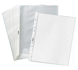 Tyh Supplies Economy 11 Hole Non Glare Matte Top Loading Poly Office Page Sheet