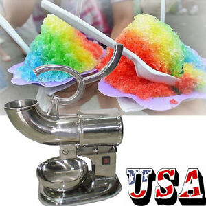 New Ice Shaver Machine Sno Snow Cone Maker Shaved Icee Electric Crusher 400lbs h