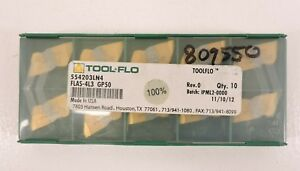 Tool flo Lds 54 530 5 Gp54f 13490q1f 10pack Carbide Inserts