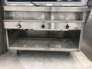 Steam Table Randell 3 Hole Stainless Steel Eleteic Steam Table With Water Fill