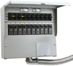 Reliance Control Manual Transfer Switch 50 Amp 10 circuit Generator Power Outage