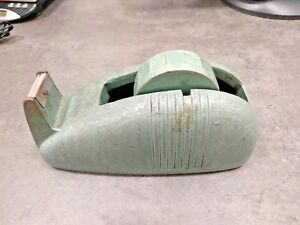 Vintage Cast Iron Green Whale Tail Tape Dispenser 3 With Tape Holder