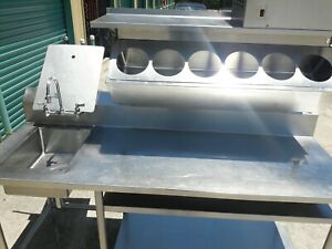 Stainless Steel Salad Prep Table From Mcdonalds With Sink Refrigeration