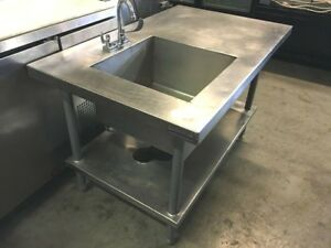 Table Prep Bar 41 x 30 X 36 h W t 1 Bowl Sink Stainless steel