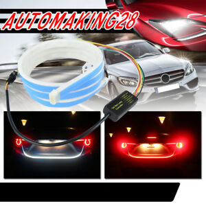 Red Blue Flow Type Led Strip Tailgate Turning Signal Lights Bar Trunk Rear Light