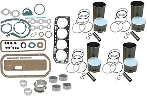 Engine Overhaul Rebuild Kit Ford 801 901 1801 Tractor 172 4 Cyl Gas Engine