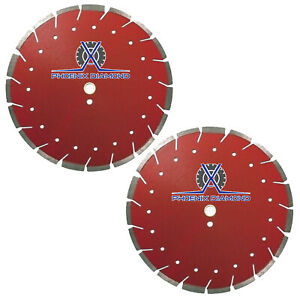 2pack 12 Diamond Blade Red X Cut Combo Blade For Concrete Asphalt Dry Wet