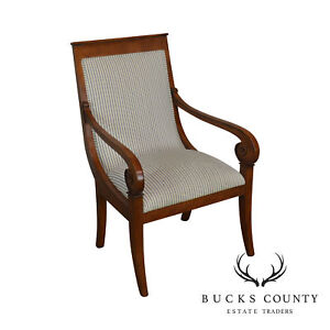 Ethan Allen Regency Style Library Arm Chair