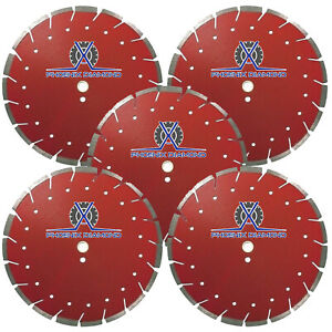 5pack 14 Diamond Blade Super G Cut Combo Blade For Concrete Asphalt Dry Wet