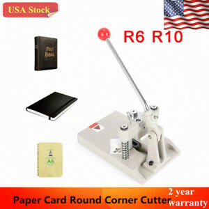 New R6 R10 Tabletop Manual Business Card Paper Photo Round Corner Cutter Machine