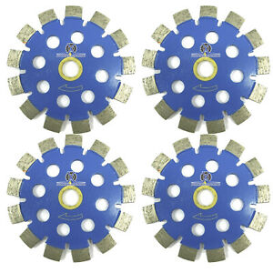 4pack 4 Fast Cut Blue Tuck Point Laser Welded Diamond Blade For Concrete Mortar