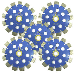 5pack 4 Fast Cut Blue Tuck Point Laser Welded Diamond Blade For Concrete Mortar
