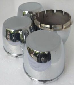 4x Center Caps Cup 78 Mm Wheel Hub Cover Chrome Finished Enkei Nologo