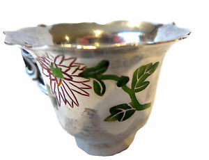 Silver And Enamel Chinese Antique Cup