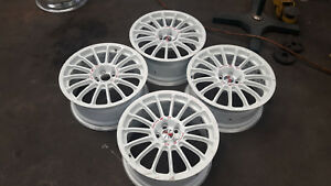 Jdm 17 Oz Racing Wheels Rim For Subaru Sti Impreza Gc8 Gdb Gda Legacy Gf8 St205