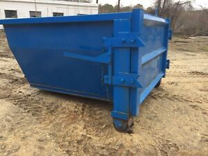 Forklift Trash Bin Roll Off Container Wheels And Door