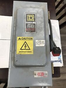 Square D Heavy Duty Safety Switch Hu36iawk Series E1 30 Amps 600 Vac