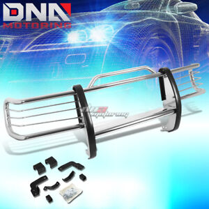 For 1984 2001 Jeep Cherokee Xj Stainless Steel Front Grille Grill Guard Flame