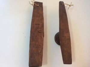 Antique Korean Wooden Rice Cake Cookie Molds Set Of 2