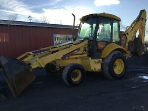 2004 New Holland Lb75 4x4 Tractor Loader Backhoe Cab Only 3100 Hrs