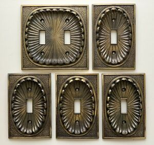 Lot 5 American Tack Hardware Switch Plate Covers 53tt Hollywood Regency C 1974