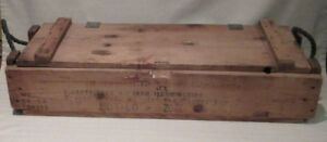 Vintage Military Wooden Ammo Crate Box Ammunition For Cannon Mortar M335A2 4.2in