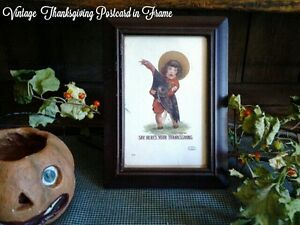 Antique 1907 Thanksgiving Postcard Child Holding Turkey In Frame Ullman Co 2131