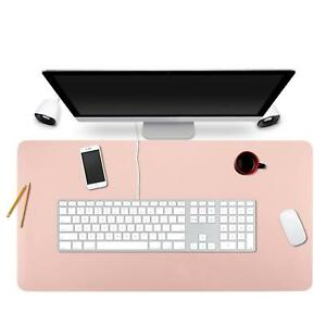 Bubm Desk Pad Protecter 35 X 18 Pu Leather Desk Mat Blotters Organizer With