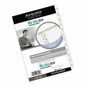 At a glance 2019 Daily Planner Refill Day Runner 5 3 4 X 8 1 2 Desk Size