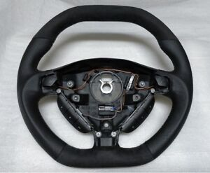Opel Astra G Zafira Steering Wheel Black Leather Alcantara Custom