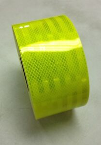 6 Reflective Truck Trailer Conspicuity Safety Tape 3m Fluorescent Yellow Green