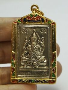 Phra Pikanet Pi Ganesh Amulet Necklace Pendant For Love Lucky Wealth A65