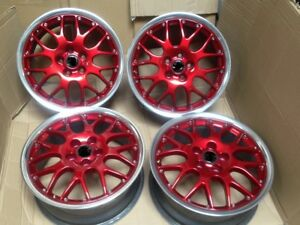 16 Bbs Rs771 Alloy Wheels Red Candy Polished Lips Golf Gti Mk3 Mk4 Jetta