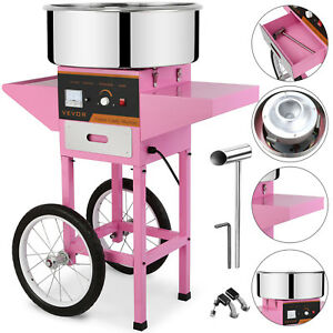 Great Popcorn Cotton Candy Machine Floss Maker With Cart