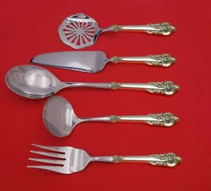 Grand Baroque By Wallace Sterling Silver Thanksgiving Serving Set 5pc Custom