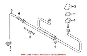 For Bmw Genuine Headlight Washer Hose Front 61677179469