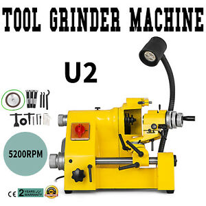 U2 Universal Tool Cutter Grinder Machine 5200rpm Less Vibration 100mm Grinding