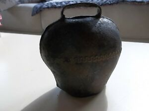 Antique 4 X4 Authentic Cow Bell