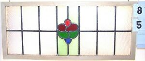 Antique English Leaded Stained Glass Window