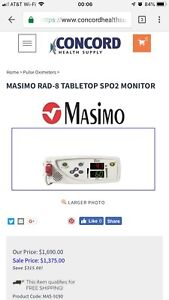 Masimo Rad 8 Tabletop Spo2 Pulse Oximeter