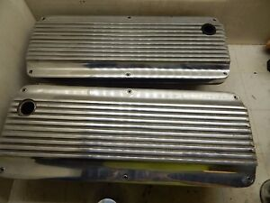 Vintage Moroso Induction Engineering Valve Covers Sbc Larson Rare Aluminum